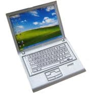 Dolls House silver or blacklaptop office computer accessory